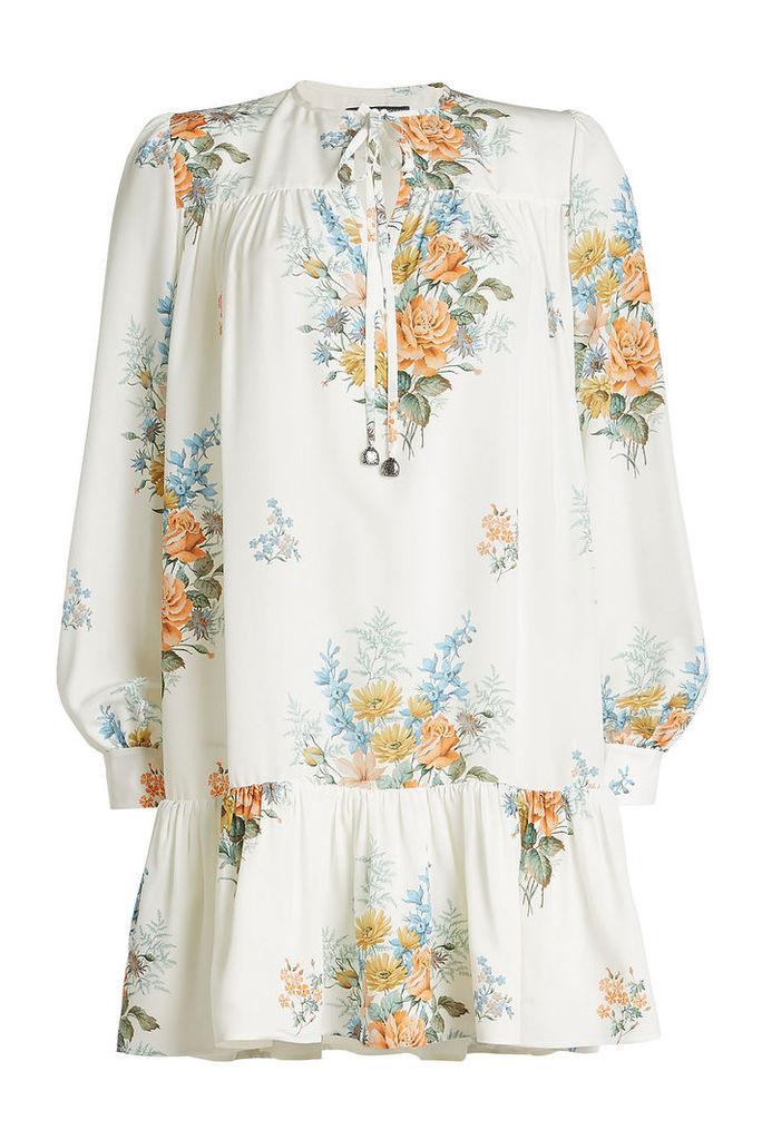 Alexander McQueen Printed Silk Dress