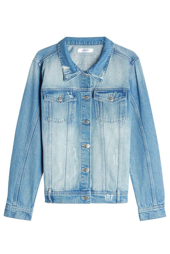 Anine Bing Distressed Denim Jacket