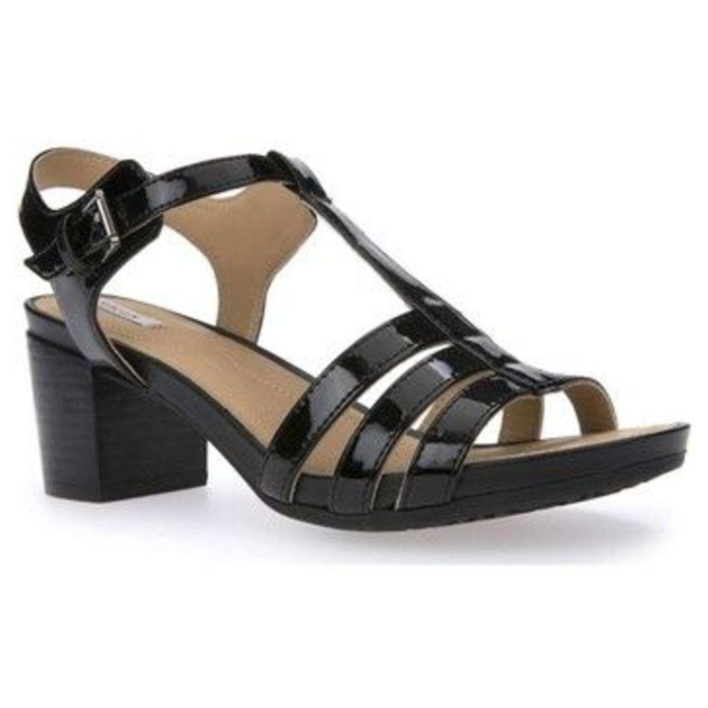 Geox  D7273C 000HH High heeled sandals Women  women's Sandals in black