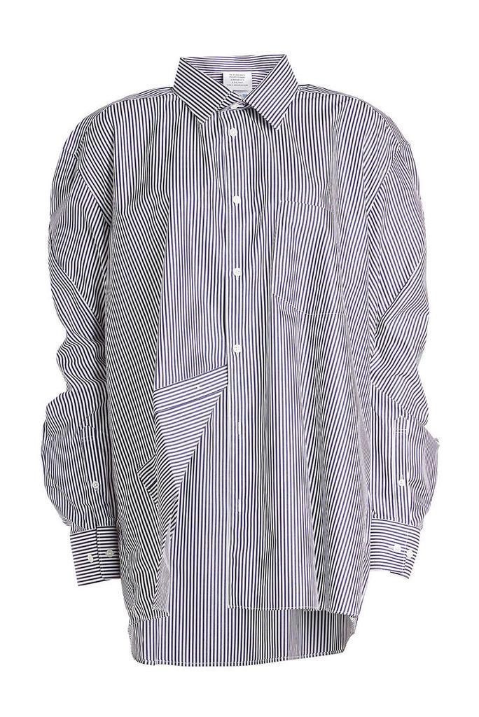 Vetements X Comme des Garçons Striped Cotton Shirt