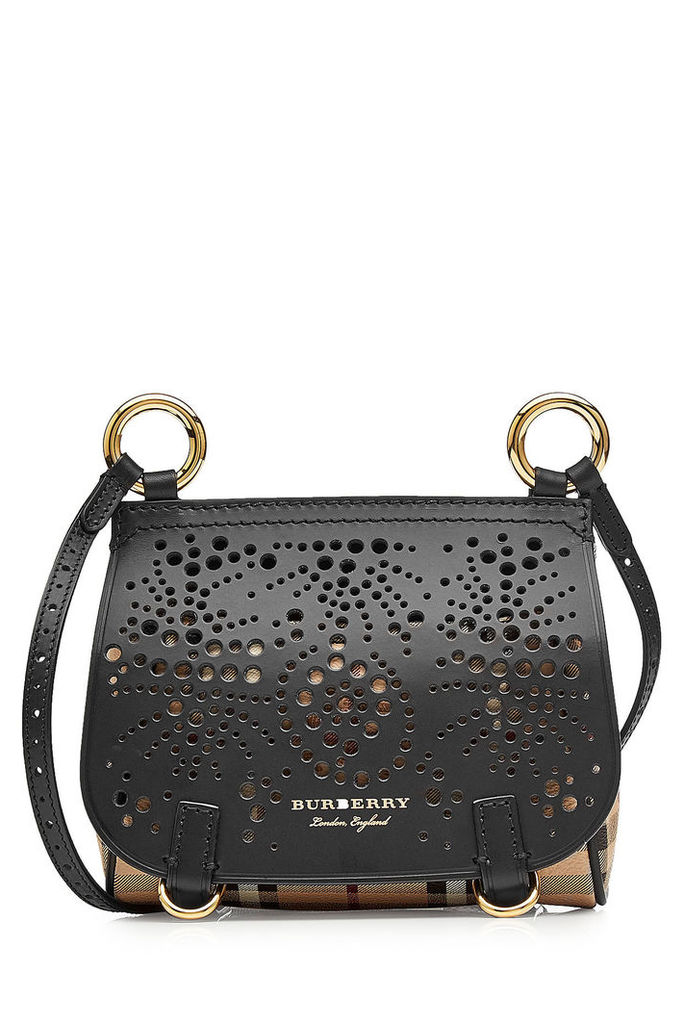 Burberry Mini Shoulder Bag with Leather