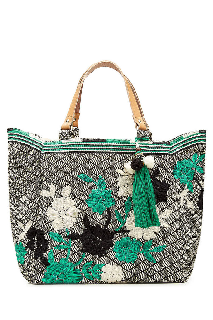 Star Mela Embroidered Jute Tote