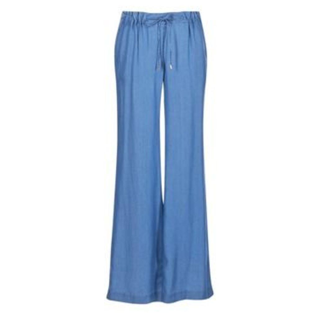 MICHAEL Michael Kors  TENCEL DRPE FRT WL  women's Trousers in blue