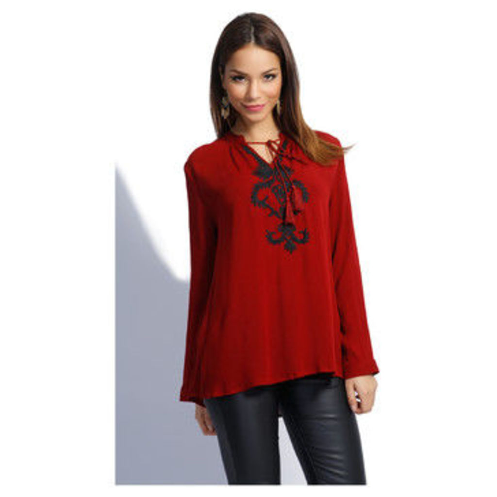 By Clara  Blouse GABY  women's Blouse in red