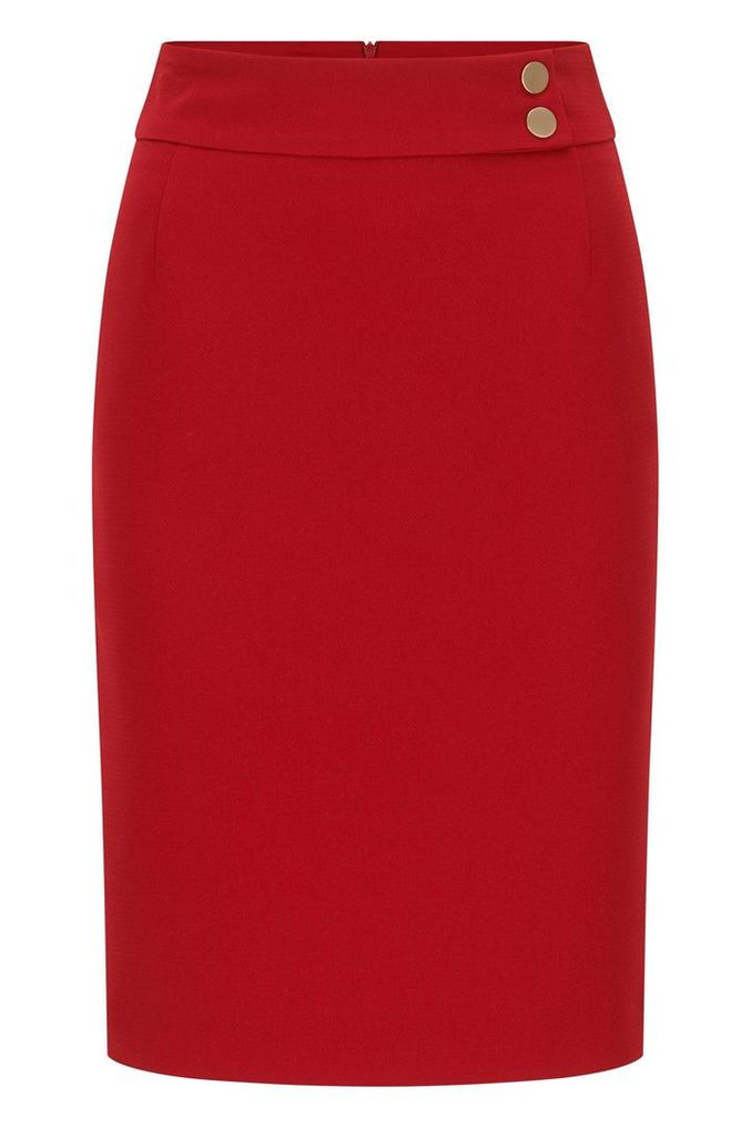 Slim-fit pencil skirt in structured crepe