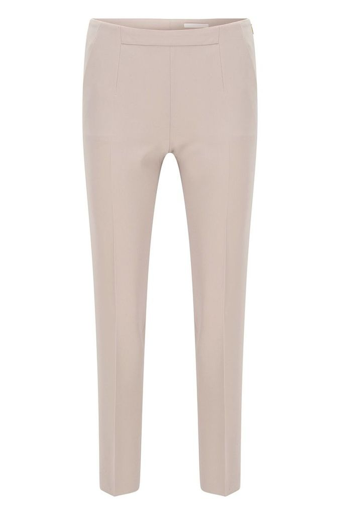 Slim-fit trousers in lightweight crepe