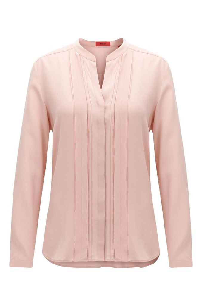 Relaxed-fit silk blouse with chiffon detail