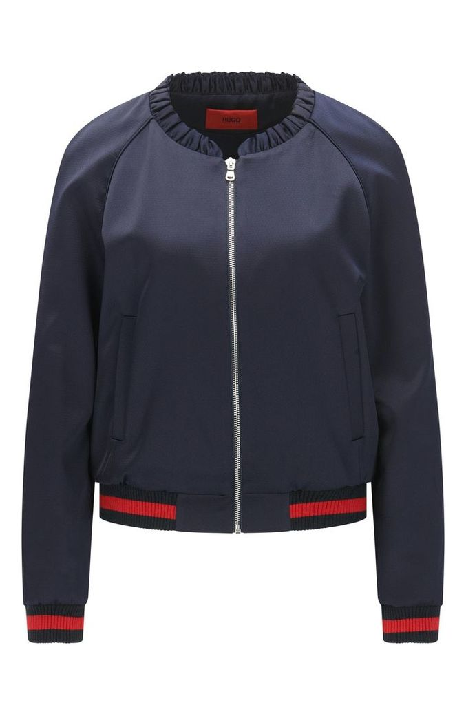 Relaxed-fit bomber jacket with statement embroidery