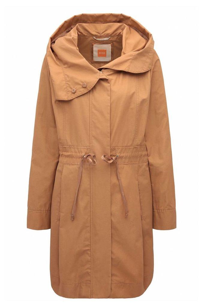 Regular-fit cotton blend parka jacket