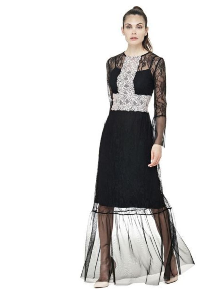 Guess Dress With Contrasting Lace