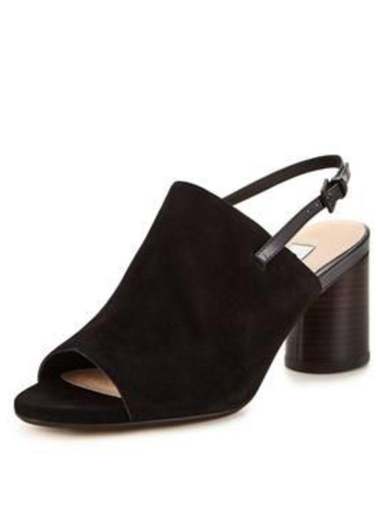 Clarks Clarks Amali Grove Leather Heeled Slingback Sandal