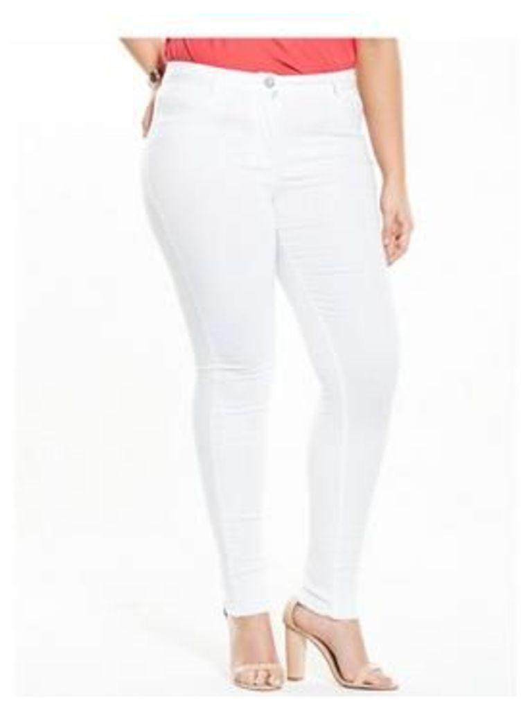 V By Very Curve Body Sculpt White Jean