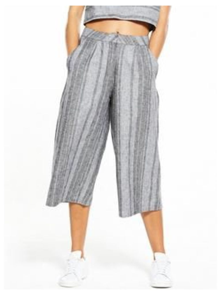 Native Youth Native Youth Grey Striped Culottes