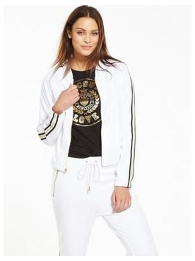 Juicy Couture Juicy Couture Microterry Jacket With Racer Stripe