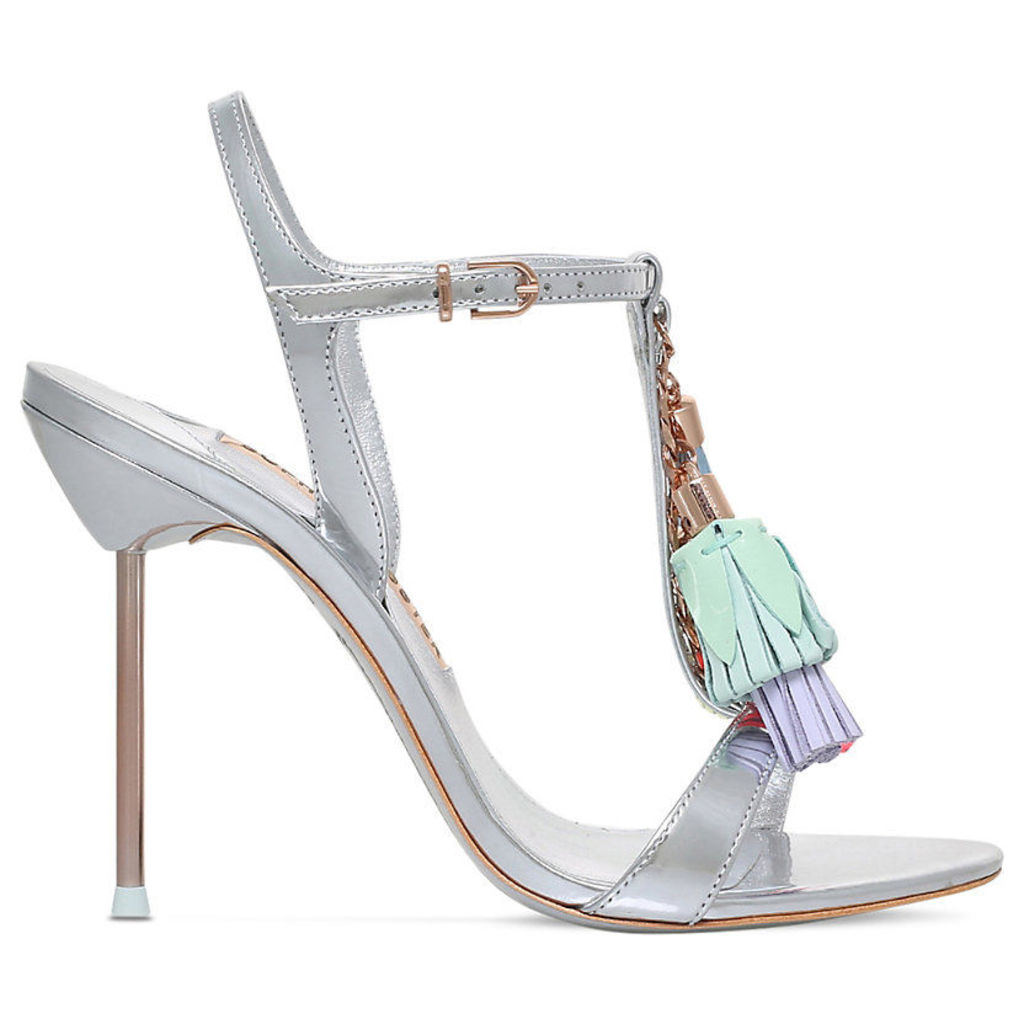 Layla tassel-detail metallic leather sandals