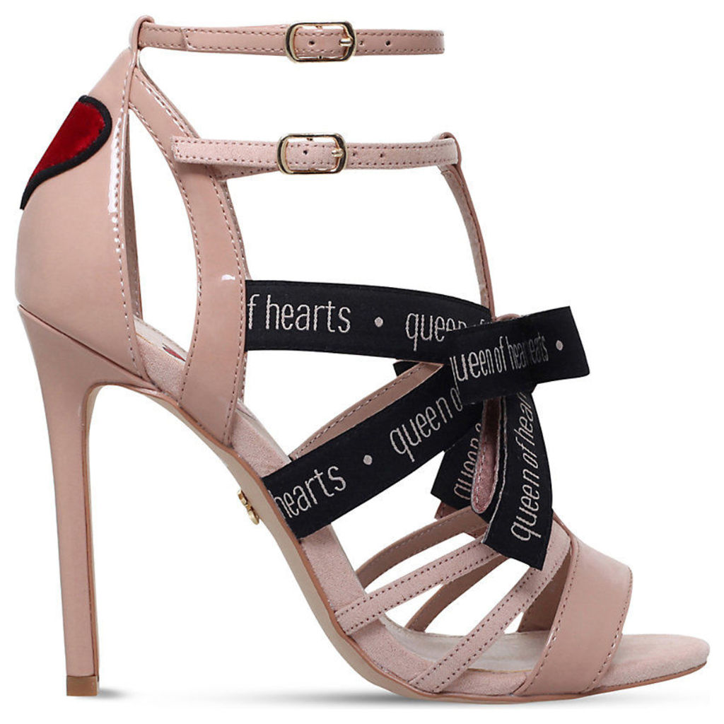 Hearts patent caged sandals