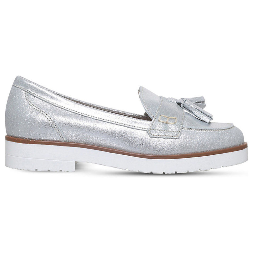 Kola metallic leather loafers