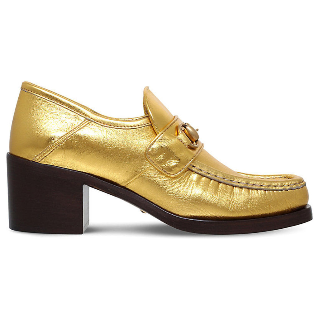 Vegas metallic leather loafers