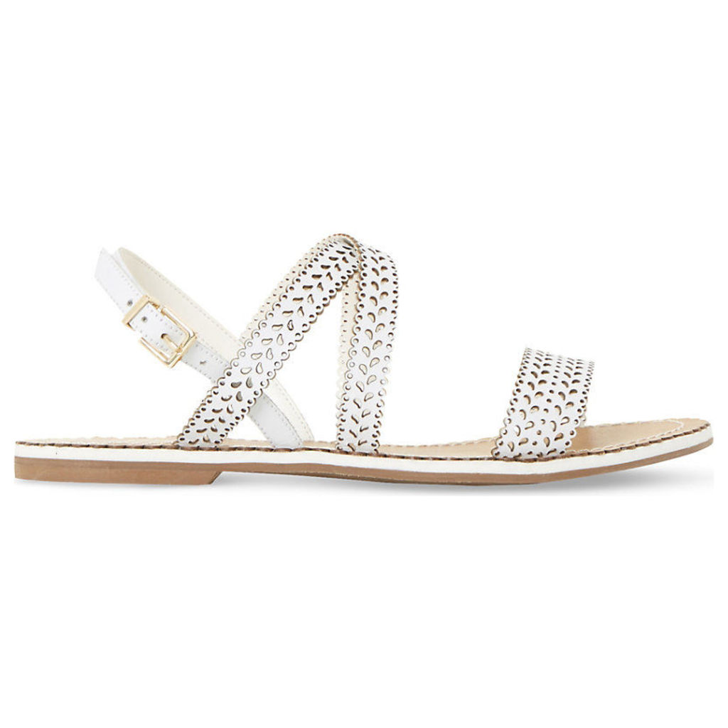 Lilo laser cut leather sandals