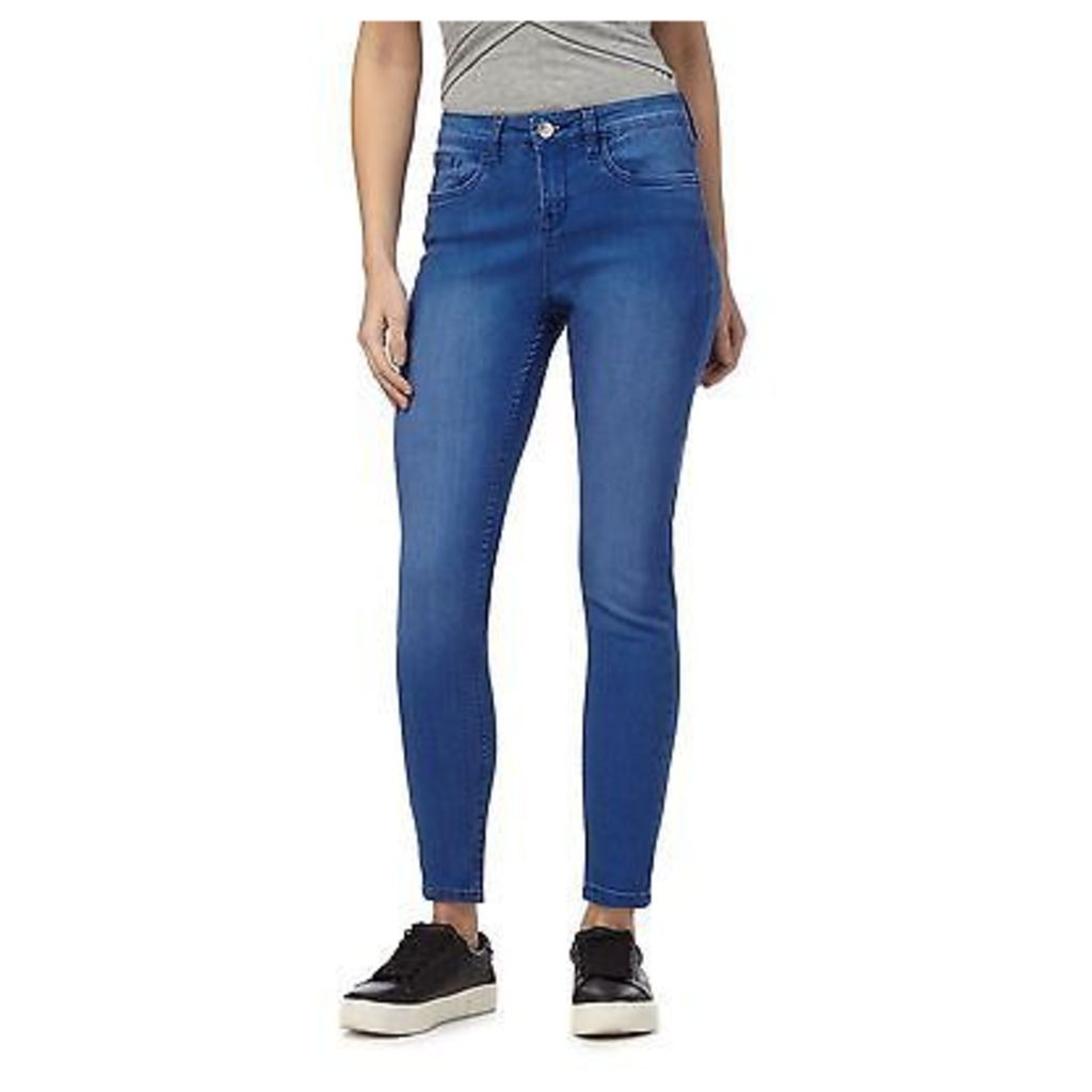 Red Herring Womens Blue 'Holly' Superskinny Mid Wash Ankle Grazer Jeans