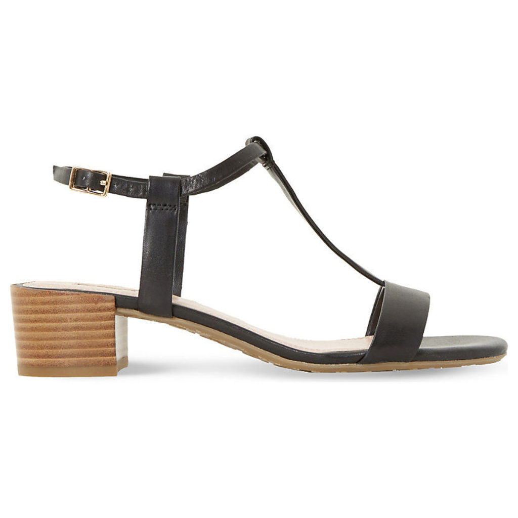 Issie T-bar leather sandals