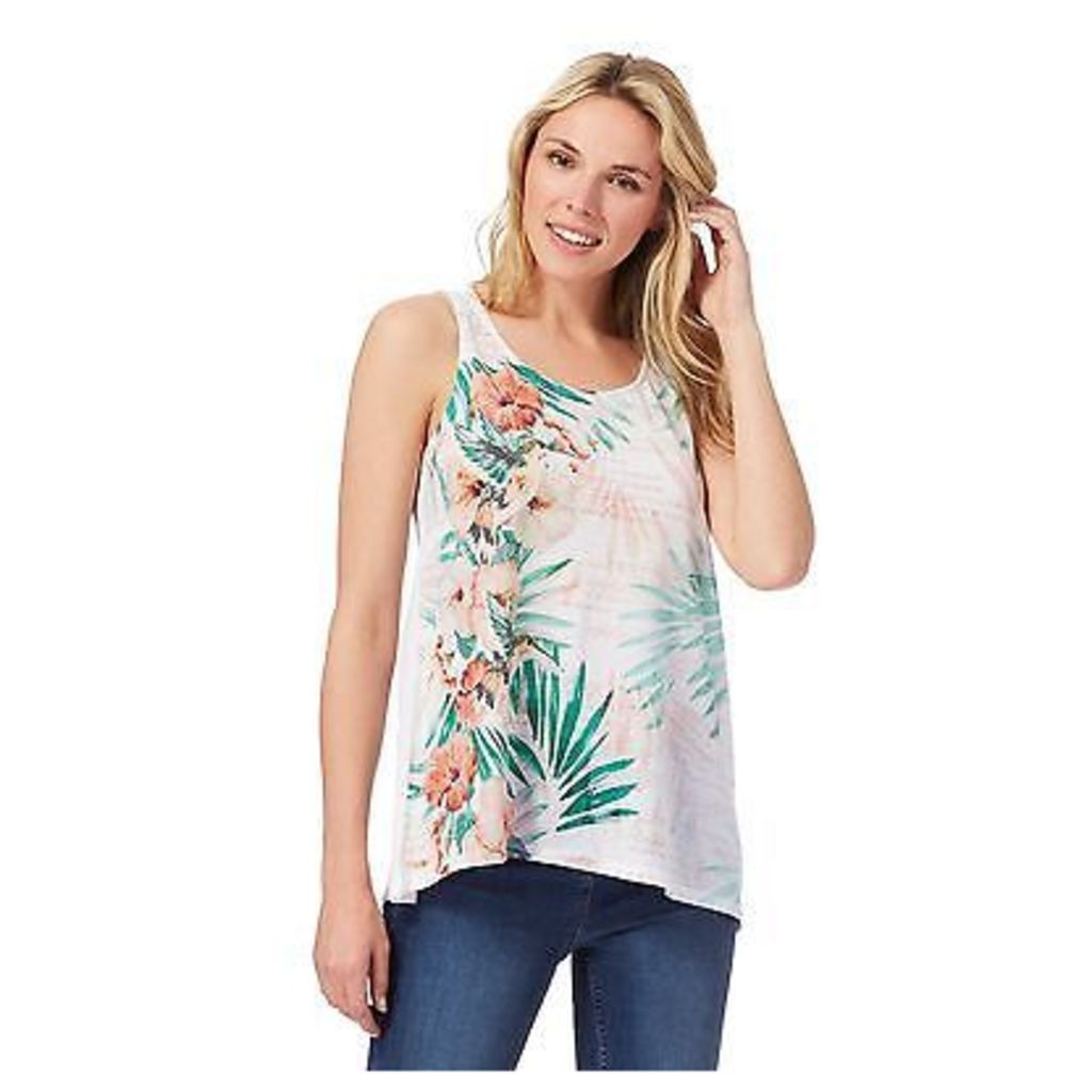 The Collection Womens White Floral Print Vest Top From Debenhams
