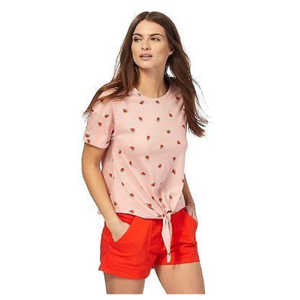 Red Herring Womens Peach Watermelon Print T-Shirt From Debenhams