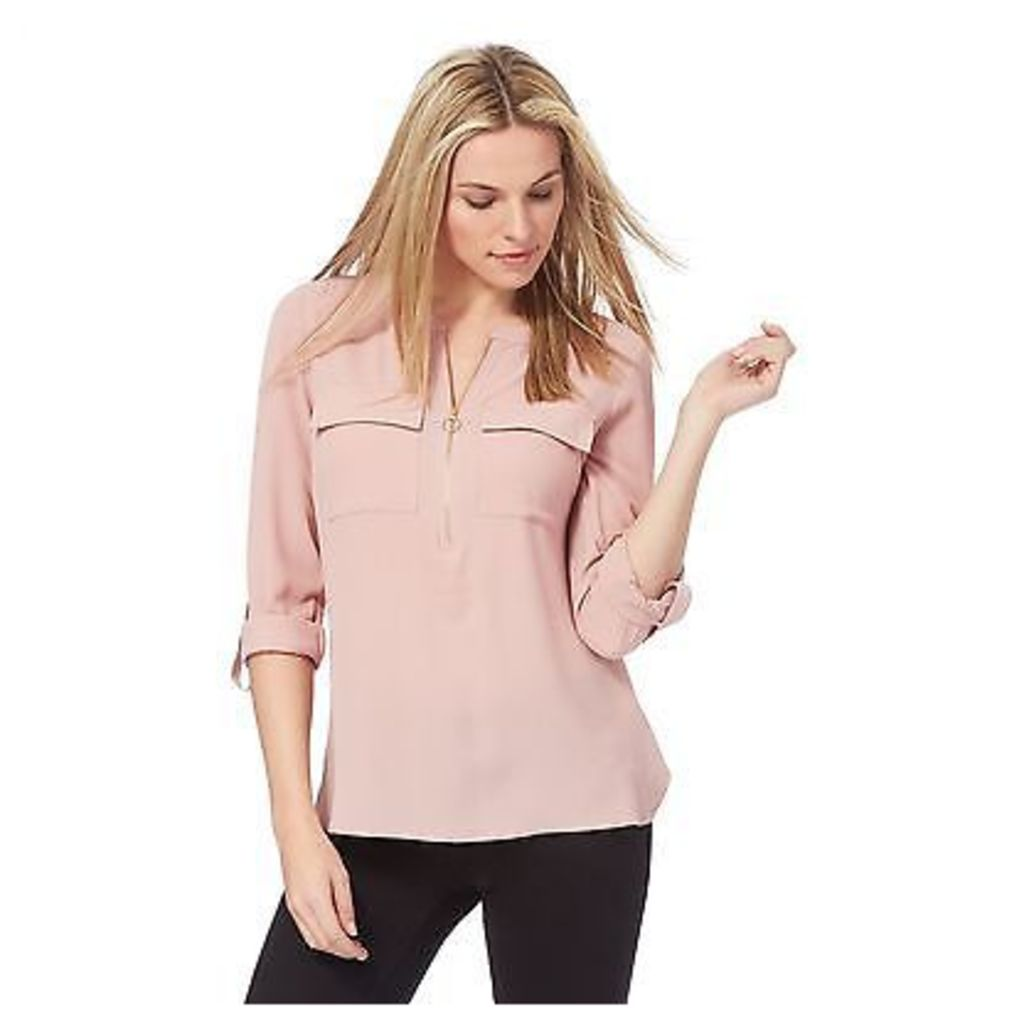 The Collection Womens Pink Zipped Top From Debenhams