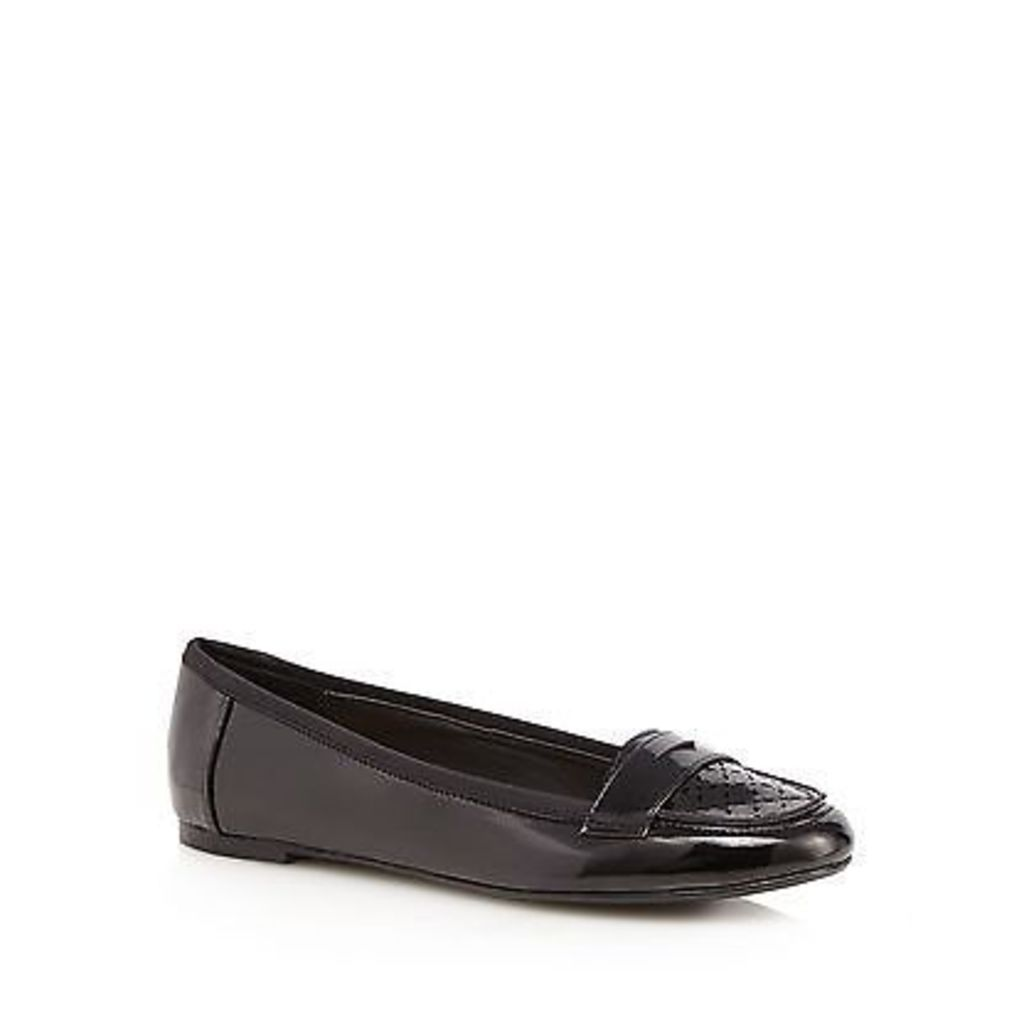 Red Herring Black Patent Loafers From Debenhams