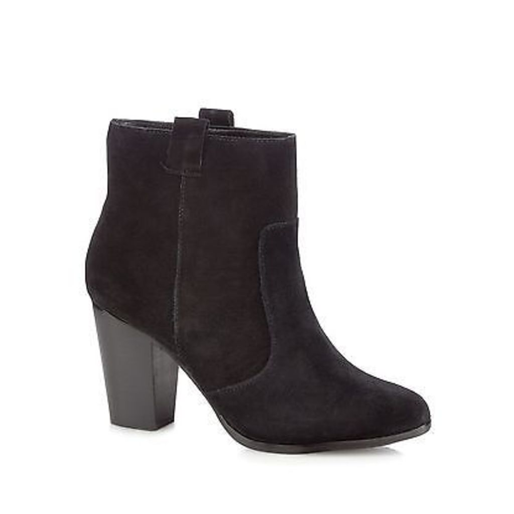 Faith Womens Black Suede 'Blue' Ankle Boots From Debenhams