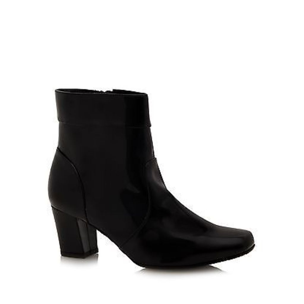 Good For The Sole Womens Black Patent Wide Fit Ankle Boots From Debenhams