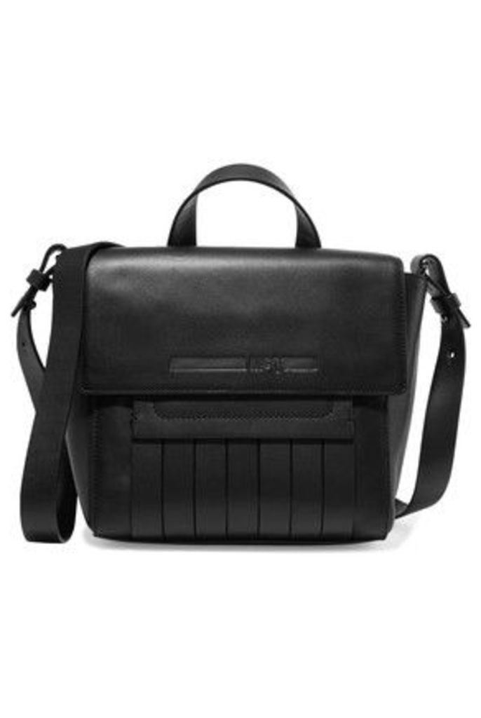 McQ Alexander McQueen - Swank Mini Paneled Leather Shoulder Bag - Black