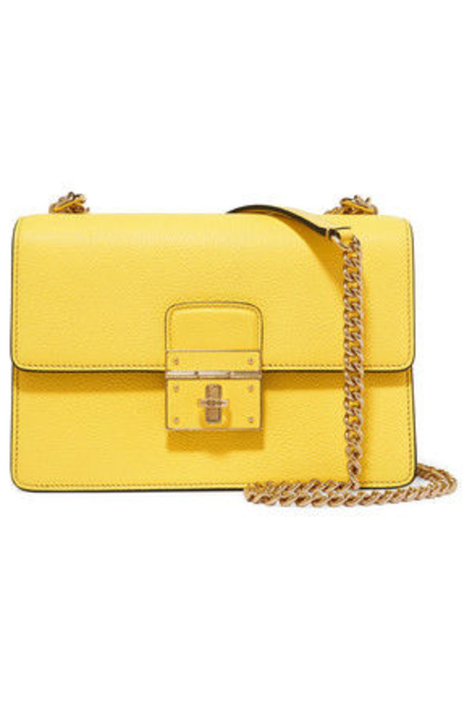 Dolce & Gabbana - Textured-leather Shoulder Bag - Yellow