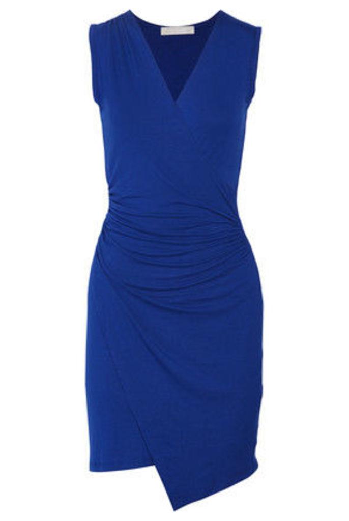 Kain - Juno Wrap-effect Ruched Stretch-modal Dress - Royal blue