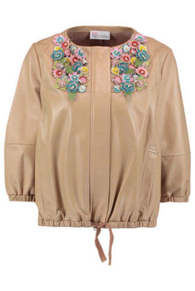 REDValentino - Appliqué-paneled Leather Jacket - Multi