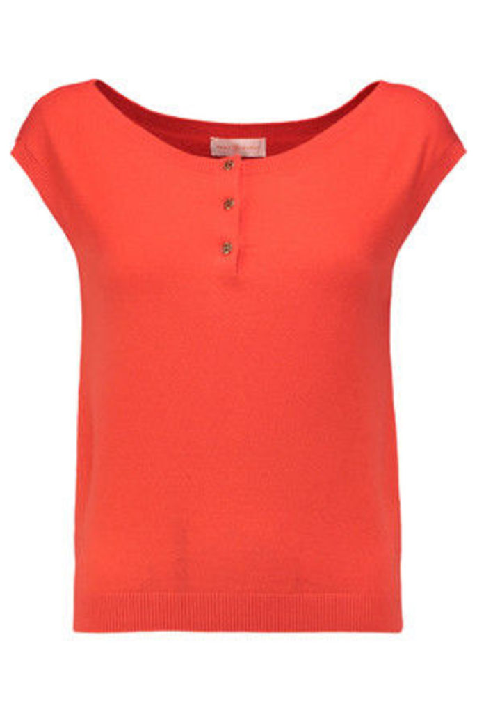 Tory Burch - Sydney Cashmere-blend Top - Tomato red