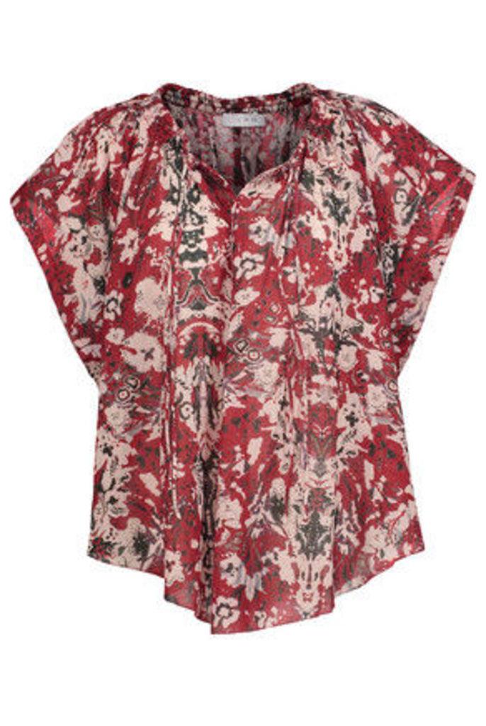 IRO - Iseline Printed Broadcloth Top - Red