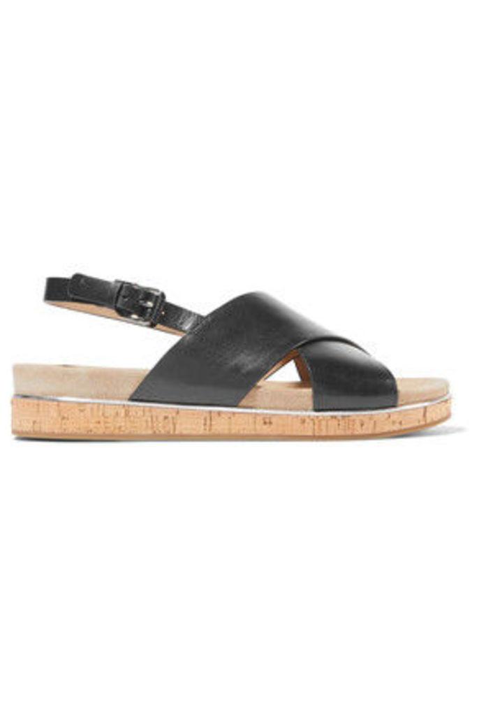 Michael Kors Collection - Hallie Leather Sandals - Black