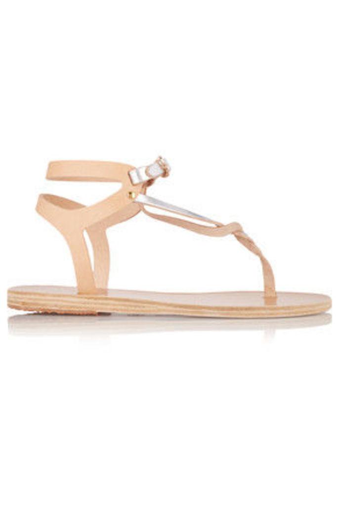 Ancient Greek Sandals - Ismene Leather Sandals - Light brown