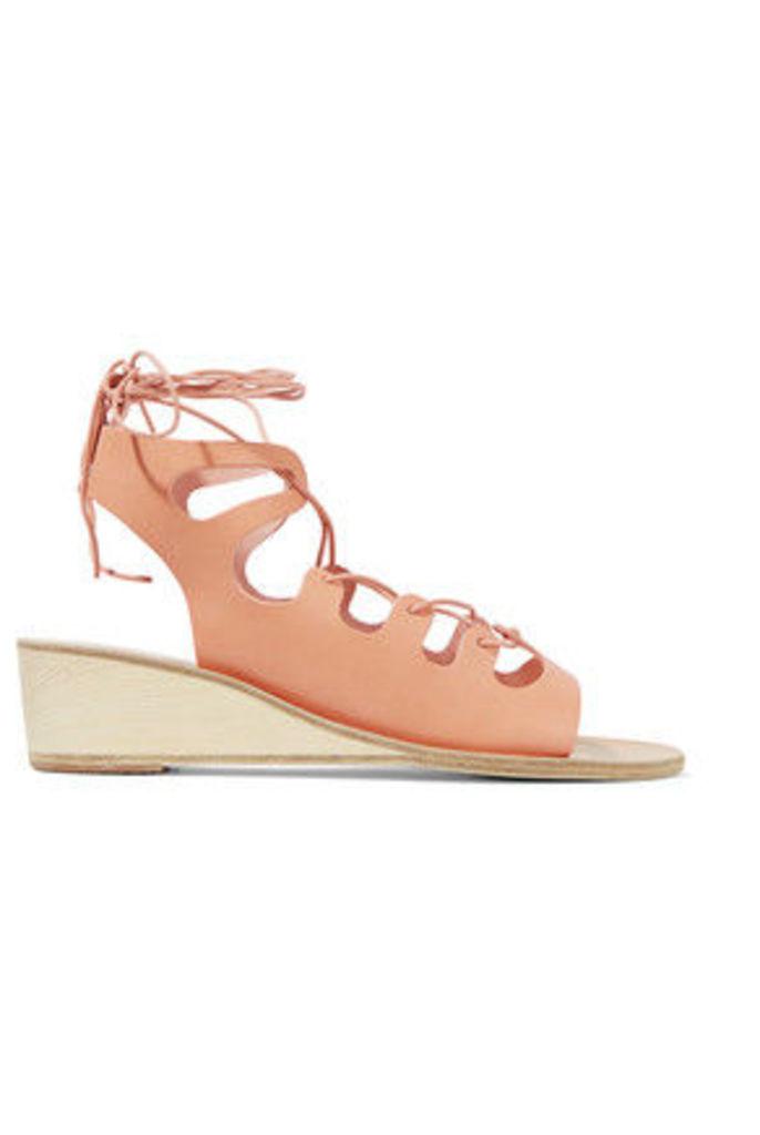Ancient Greek Sandals - Antigone Lace-up Leather Wedge Sandals - IT35
