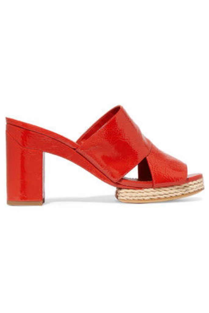 Tory Burch - Varenna Patent-leather Mules - Red