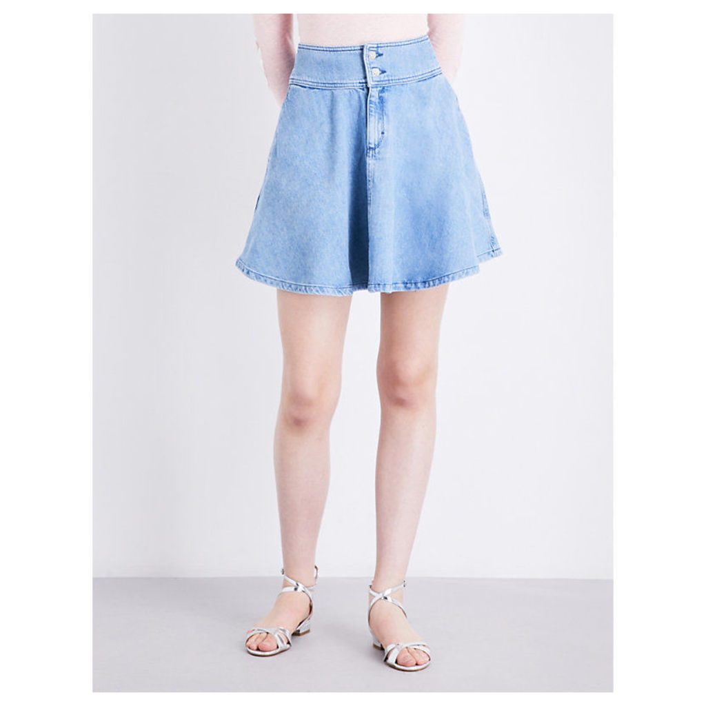 Shirley high-rise denim skirt