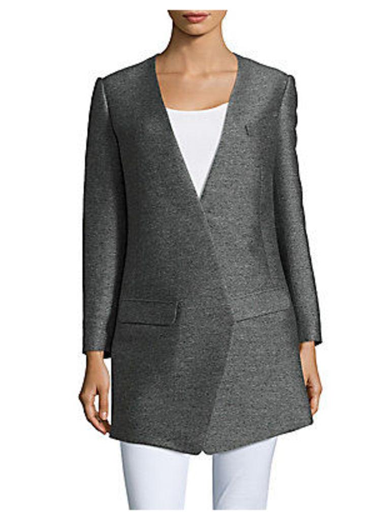 Textured Long-Sleeve Jacket