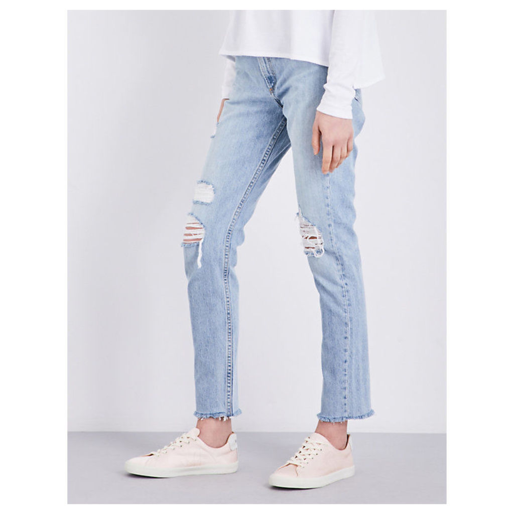 Marilyn cropped high-rise jeans