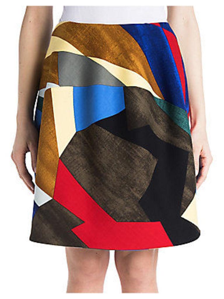Stretch Wool Tulip Skirt