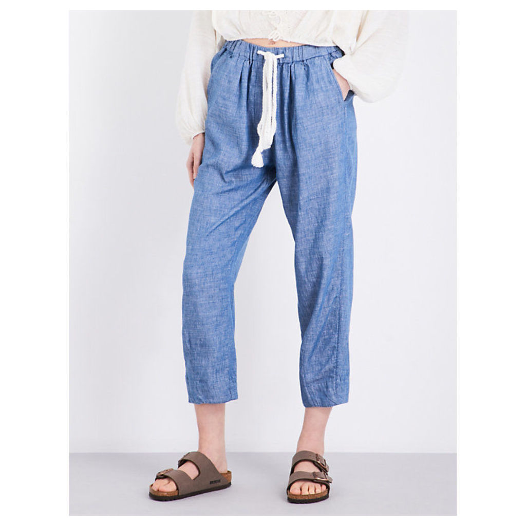 Everyday cotton and linen-blend trousers