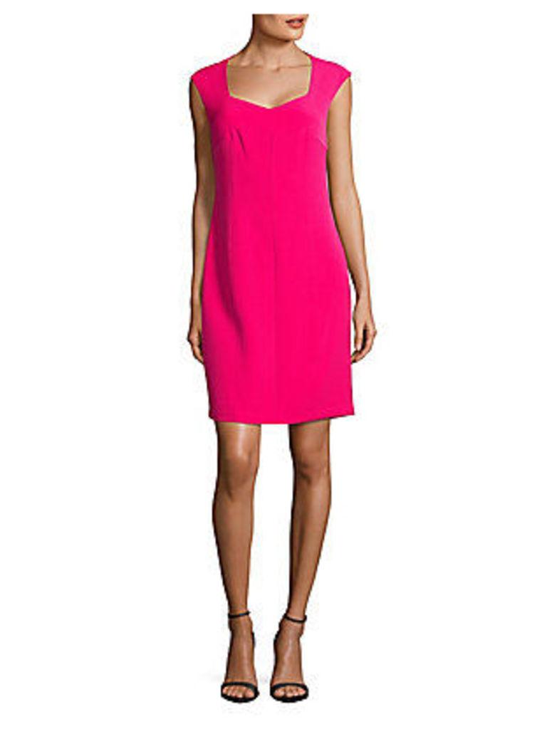 Soft V-Neck Cap-Sleeve Dress