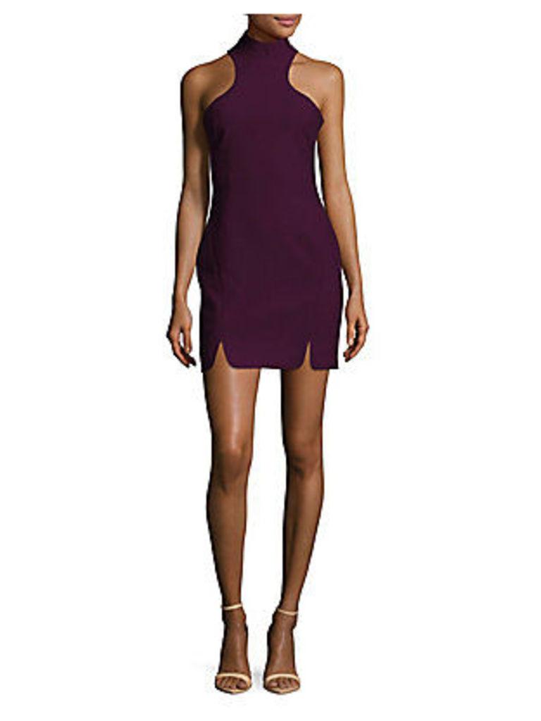 Solid Front-Slit Dress
