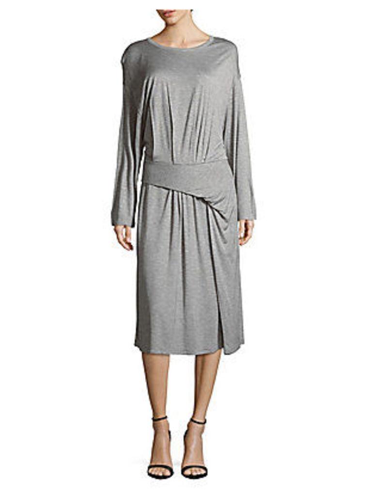 Side-Dapered Jersey Dress