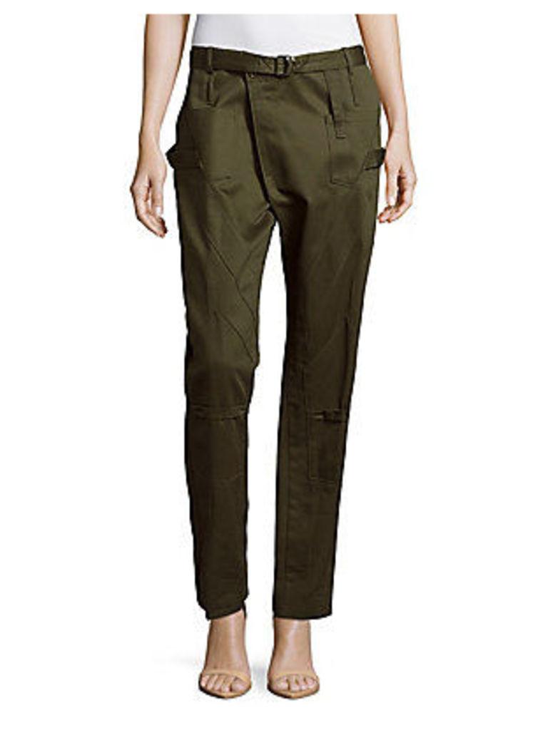 Cotton Six-Pocket Cargo Pants